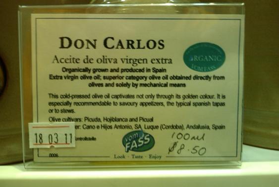 Oli d'oliva. ~4€ els 100 ml