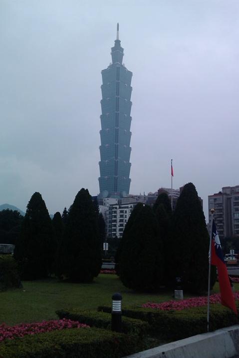 Taipei 101 des del Sun Yat Sen Memorial