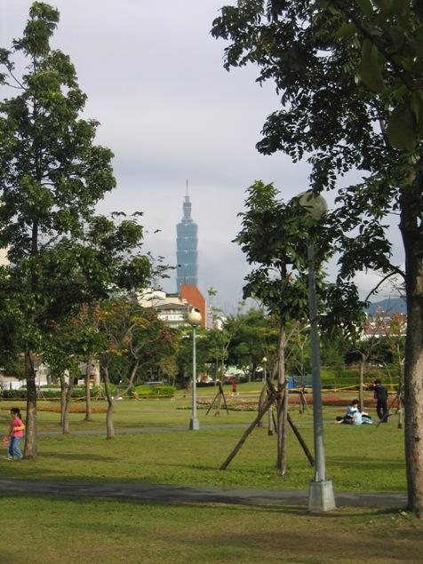 Taipei 101 des del Da-an Park