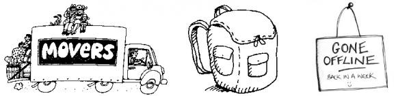 Fent capses, la motxilla i altres preparatius